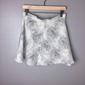 Zara Woman Black and White Circle Skirt Sz L